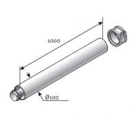 Saunier Duval hosszabbítocső l = 1000mm, SDH 60/100