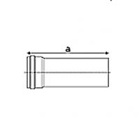 Saunier Duval hosszabbítócső, l = 250mm