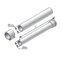 Saunier Duval hosszabbítócső, l = 500mm, átmérő 125/80 mm