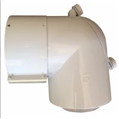 Saunier Duval kondenzációs ellenőrző könyök 80/125mm