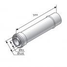 Saunier Duval toldócső l=500mm, SDH ...