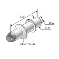 Saunier Duval vízszintes egyenes kivezető készlet l = 850, SDH 80/125
