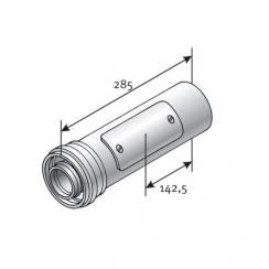 Tricox ellenőrző egyenes idom, 125/80mm