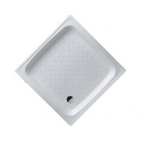 SMAVIT acéllemez zuhanytalca - fehér - 80x80x16 cm