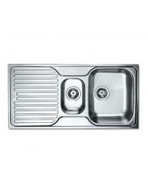 TEKA beépíthető mosogató (Princess 1000.500 1 1/2C.1E) rozsdamentes acél