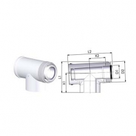 Tricox PPs/alu ellenörző T-idom 60/100mm