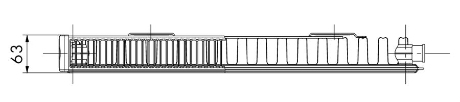 Dunaterm acéllemez radiátor mélysége