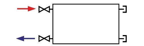 Dunaterm acéllemez radiátor hagyományos bekötés
